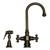 Whitehaus Collection WHKSDCR3-8104-P Vintage III Faucets Pewter