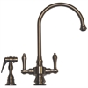 Whitehaus Collection WHKSDLV3-8101-BN Vintage III Faucets Brushed Nickel