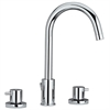Whitehaus Collection WHLX78214-C Luxe Faucets Polished Chrome