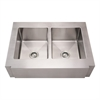Whitehaus Collection WHNCMAP3621EQ Noah's Collection Sinks Brushed Stainless Steel