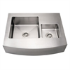 Whitehaus Collection WHNCMDAP3629 Noah's Collection Sinks Brushed Stainless Steel