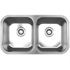 Whitehaus Collection WHNEDB3118 Noah's Collection Sinks Brushed Stainless Steel