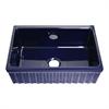 Whitehaus Collection WHQ330-BLUE Quatro Alcove Sinks Sapphire Blue