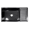 Whitehaus Collection WHQD540-BLACK Quatro Alcove Sinks Black