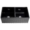 Whitehaus Collection WHQDB332-BLACK Quatro Alcove Sinks Black