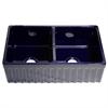 Whitehaus Collection WHQDB332-BLUE Quatro Alcove Sinks Sapphire Blue
