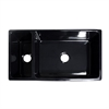 Whitehaus Collection WHQDB542-BLACK Quatro Alcove Sinks Black