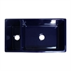 Whitehaus Collection WHQDB542-BLUE Quatro Alcove Sinks Sapphire Blue