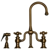 Whitehaus Collection WHTTSCR3-9774SPR-AB Twisthaus Faucets Antique Brass