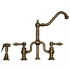 Whitehaus Collection WHTTSLV3-9771SPR-AB Twisthaus Faucets Antique Brass