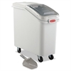 Rubbermaid Commercial ProSave Mobile Ingredient Bin, 20.57gal, 13 1/8w x 29 1/4d x 28h, White
