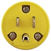Super-Safeway Male-End Replacement Plug, NEMA 5-15, Rubber, Yellow