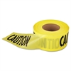 "Empire Caution Barricade Tape, 3"" x 1000ft, Yellow/Black"