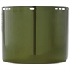 "JACKSON SAFETY Face Shield Window, 15 1/2"" x 8"", Polycarbonate, Green, Unbound"