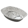 Aluminum Roasting Container, Oval, 17 11/16 x 14 7/16 x 3 1/4, 25/Carton