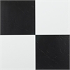 Achim Tivoli Black & White 12x12 Self Adhesive Vinyl Floor Tile - 45 Tiles/45 sq Ft