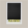 Achim 1-2-3 Vinyl Room Darkening Window Pleated Shade - Black - 48x75