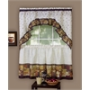 Coffee - Printed Tier and Swag Window Curtain Set - 57x36 - Multi