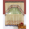 Achim Cucina - Printed Tier and Swag Window Curtain Set - 57x36 - Multi