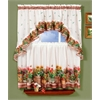 Achim Country Garden - Printed Tier and Swag Window Curtain Set - 57x24 - Multi