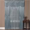 Halley 6 Piece Window Curtain Set - 56x63 - Merlot