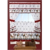 Achim Top of the Morning Cottage Window Curtain Set - 57x36 Tier Pair/57x36 Tailored Topper with attached valance and tiebacks. - Black/White