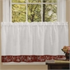 Achim Oakwood 58x24 Window Curtain Tier Pair  - Natural