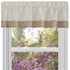 Achim Oakwood 58x14 Window Curtain Valance - Natural