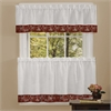 Achim Oakwood 58x14 Window Curtain Valance - Burgundy