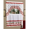 Strawberry Vine - Printed Tier and Swag Window Curtain Set - 57x36 - Red