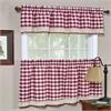 Achim Buffalo Check Window Curtain Tier Pair - 58x36 - Burgundy