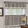 Buffalo Check Window Curtain Tier Pair - 58x36 - Chocolate