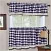 Achim Buffalo Check Window Curtain Tier Pair - 58x36 - Navy