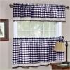 Buffalo Check Window Curtain Tier Pair - 58x36 - Navy