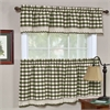 Achim Buffalo Check Window Curtain Tier Pair - 58x36 - Sage