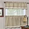Buffalo Check Window Curtain Tier Pair - 58x36 - Taupe