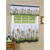 Home Sweet Home Printed Tier and Valance Window Curtain set 58x24 Tier Pair and 58x13 Valance - Multi