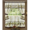 Achim Tuscany Cottage Window Curtain Set - 57x36 Tier Pair/57x36 Tailored Topper with attached valance and tiebacks. - Multi
