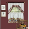 Farmer's Market - Printed Tier and Swag Window Curtain Set - 57x36 - Multi