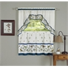 Love Birds - Printed Tier and Swag Window Curtain Set - 57x36 - Blue