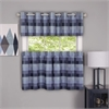 Harvard - Window Curtain Tier Pair - 57x24 Blue