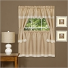 Achim Harwood Embellished Cottage Window Curtain Set 58x36 Tier Pair/ 58x36 Topper