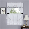 Achim Arden Embellished Cottage Window Curtain Set 58x24 Tier Pair/ 58x36 Topper