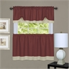 Achim Darcy Window Curtain Tier and Valance Set 58x24/58x14 - Marsala/Tan