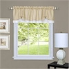Achim Darcy Window Curtain Valance 58x14 - Tan/White