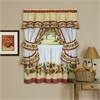 Achim Black Eyed Susan Cottage Window Curtain Set - 57x36 - Spice