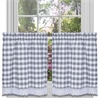 Achim Buffalo Check Window Curtain Tier Pair - 58x24 - Grey