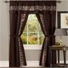 Achim Fairfield 5 Piece Window Curtain Set - 55x84 - Chocolate