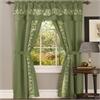 Achim Fairfield 5 Piece Window Curtain Set - 55x63 - Sage