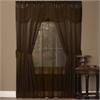 Achim Halley 6 Piece Window Curtain Set - 56x63 - Chocolate